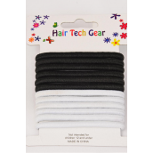 Elastic Pony Black & White Mix 12pcs per Card 12card/DZ **Black & White Mix**NO Metal,Elastic Size-0.6cm Wide,Display Card & OPP Bag & UPC Code,12pcs per Card,12 card=Dozen -