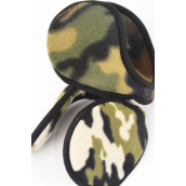 "Ear muff Fleece Adult Size Camo Flexible/DZ **Ca-mo** Size-4.25"",Flexible,6 of each Color Asst,Hang Tag & UPC Code"