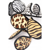 "Ear muff Fleece For Kids Animal Print Mix Flexible/DZ **Animal Print Mix** For Kid,** Size-4"",Flexible,3 Large Leopard,3 Gray Leopard,2 of other Color Asst,Hang Tag & UPC Code"