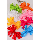 "Hair Bow Loop Bow Grosgrain Fabric French Clip Citrus/DZ **Citrus** French Clip,Bow Size-5""x 4"" Wide,2 Red,2 Fuchsia,2 Blue,2 Pink,1 White,1 Yellow,1 Lime,1 Orange Mix,Clip Strip & UPC Code"