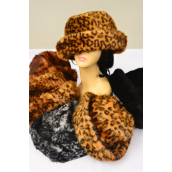 Hat Faux Fur Rollup Mink Feel/PC W OPP Bag,Choose Colors