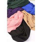 "Scarf Infinity Polyester Solid Color/DZ **Infinity Style** Size-71""x 28"" Wide,Individual OPP Bag & UPC Code,Choose Colors"