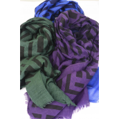 "Scarf Polyester Chevron Pattern/DZ **Chevron**  Size-71""x 28"" Wide,Individual OPP Bag & UPC Code,Choose Colors"
