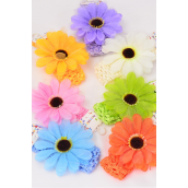 "Ballerina Headband Flower Stretch/DZ **Stretch** Ballerina-1.5"" Wide Flower-4"" Wide,2 Pink,2 Yellow,2 Beige,2 Blue,2 Orange,1 Lavender,1 Lime,7 Color Asst,Hang tag & UPC Code,Clear Box"