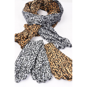 "Velvet Scarf & Glove Matching Sets Leopard Print/Sets Choose Colors,Scarf Size-60""x 6"" Wide,Opp Bag & UPC code & Hook"