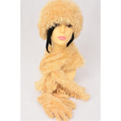 """Multifunction Magic Scarf 3 pcs Sets Soft Stretchy Beige/Sets **Beige** Stretch,Scarf Size-13""""x 64"""" Wide, Display Card & OPP Bag & UPC Code"""