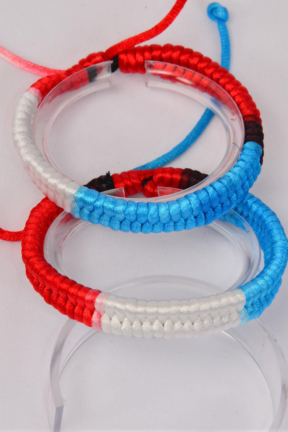 Bracelet Woven Style Ombre Adjustable/DZ **Unisex** Adjustable,Hang tag & OPP Bag & UPC Code