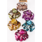 Jaw Clip Acrylic 10 cm Wide Leopard Print Multi/DZ **Leopard Multi** Size-10 cm Wide,2 of each Color Asst,Hang Tag & Individual OPP Bag & UPC Code