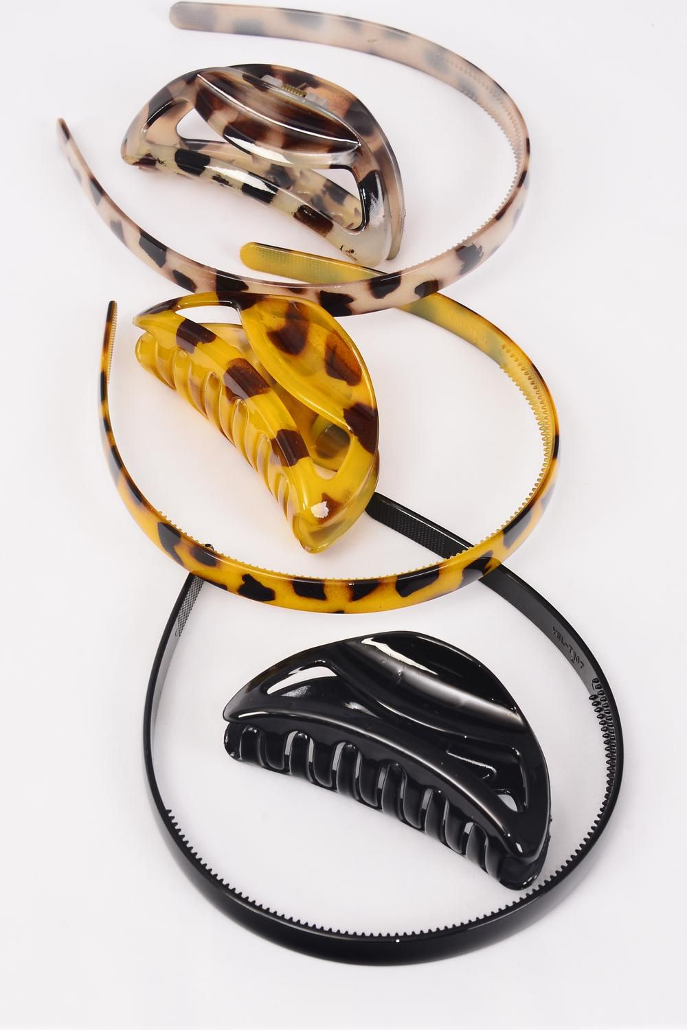 Headband Amp Jaw Clip Sets Leopard Print Dz Headband 0 75