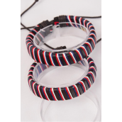 Bracelet Real Leather Band Braid Adjustable/DZ **UNISEX** Adjustable,Hang Tag & OPP Bag & UPC Code