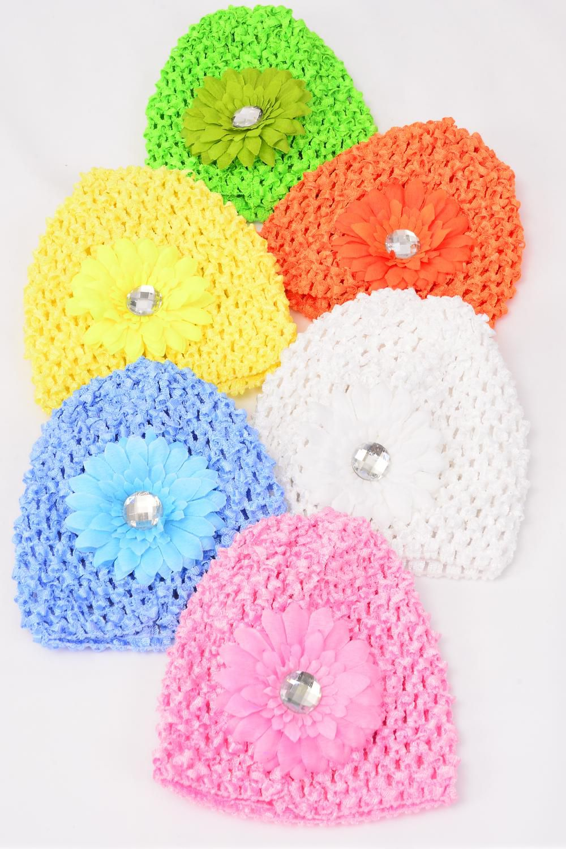 Kufi hat crochet for kids small gerber daisy flowerdz stretch kufi hat crochet for kids small gerber daisy flowerdz stretch izmirmasajfo