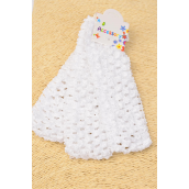 "Ballerina Headband 1.75 Inch Wide 36pcs White/DZ **White** Stretch,Size-1.75"" Wide,3 pcs Per Hangtag,12 Hangtag= Dozen,Hang Tag & OPP Bag & UPC Code"