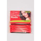 "Cold Wave Rods Red 144pcs Size 2/16''/PK **Red** Size-2/16"" Dia Wide,12 pcs Pr Bag,12 Bag/Pack"