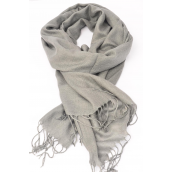 "Scarf Pashmina Light Gray/PC **Light Gray** Size-70""x 25"" Wide,70% Pashmina,30% Silk,W OPP Bag"