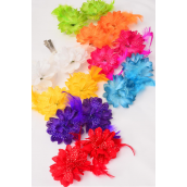"Flower 24 pcs Baby Breath Feathers Alligator Clip/DZ **Multi** Alligator Clip,Size-2.75"" Wide,2 Red,2 White,2 Yellow,2 Purple,1 Fuchsia,1 Blue,1 Lime,1 Orange,8 Color Asst."