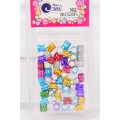 Hair Beads Tube Multi 24 pcs Blister card /Box **Multi** Individual UPC Code,60 pcs per card,24 Card per Box