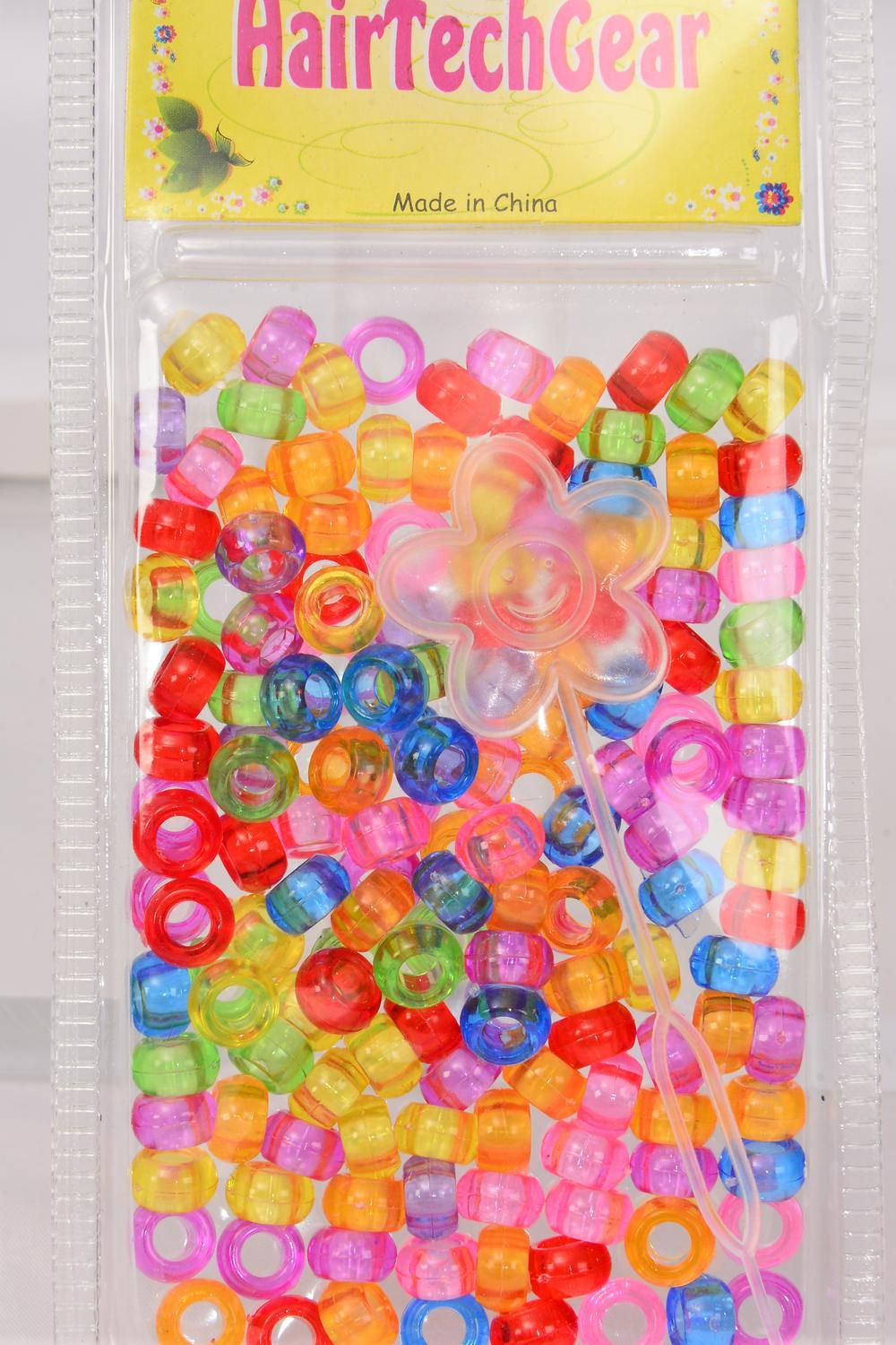 Hair Beads Acrylic Round/DZ Choose Colors,Each Card have UPC Code,12 Card= Dozen