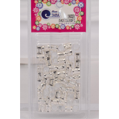 Hair Beads Tube Silver 24 pcs Blister card /Box **Silver** Individual UPC Code,60 pcs per Card,24 Card per Box