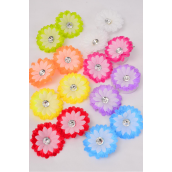 "Flowers 24 pcs Alligator Clip Daisy Multi/DZ **Multi** Alligator Clip,Size-2.75"" Wide,2 Red,2 Yellow,2 Lavender,2 Fuchsia,1 White,1 Blue,1 Orange,1 Lime,8 Color Asst."