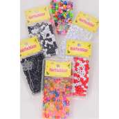 Hair Beads Acrylic Round/DZ Choose Colors,Each Card have UPC Code,12 Card= Dozen