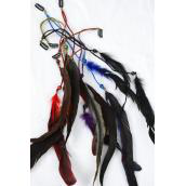 "Feather Extension Suede Feathers/DZ Size-10"" Long,2 of each Color Asst,Display Card & Opp Bag & UPC Code"