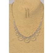 "Necklace Sets Silver Designs Post/Sets **POST** 17"" Long Extension Chain,Black Velvet Display Card & OPP Bag & UPC Code"