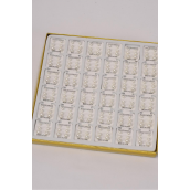 Earrings 3 pair White Pearl Balls 3 Dz Display/DY Size-4 mm 5 mm 6 mm 3 Size Mix,3 pair per Card,36 card= 1 Displays