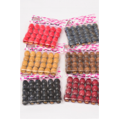 Wooden Beads Large 16 mm Wide 288 pcs/DZ Size-16 mm Wide,UPC Code,Choose Colors,24 pcs per Bag,12 Bag= DZ