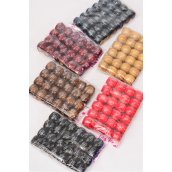 Wooden Beads Large Chinese Words Mix 16 mm Wide 288 pcs/DZ Size-16 mm Wide,OPP Bag & UPC Code,Choose Colors,24 pcs per Bag,12 Bag= Dozen