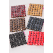 Wooden Beads Small 12 mm Wide 432 pcs/DZK Size-12 mm Wide, UPC Code,Choose Colors,36 pcs per Bag,12 Bag per= Dozen