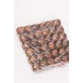 Wooden Beads Small 12 mm Wide 432 pcs Dark Brown/DZ **Dark Brown** Size-12 mm Wide,OPP Bag & UPC Code,36 pcs per Bag,12 Bag= Dozen