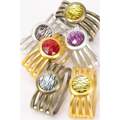 "Bangle Acrylic Hinge Round Zebra/DZ **Hinge** Size-2.75""x 1.25"",2 of each Color Asst,Hang Tag & OPP Bag & UPC Code"
