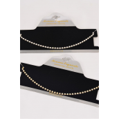 "Necklace Sets Choker Single Rhinestones/Sets **Post** Size-16"" W Extension Chain,Choose Gold Or Silver Finishes,Display Card & OPP bag & UPC Code"