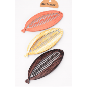 "Fish Comb Acrylic Wood Finish/DZ match 26081 Size-5.5""x 2.5"",4 of each Color Asst,Hang Tag & Individual OPP Bag & UPC Code"