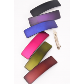 Hair Clip 12 cm Fall Dark Multi/DZ **French Clip** Size-12 cm Wide,2 of each Color Asst,Hang Card & Individual OPP Bag & UPC Code