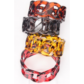 "Bangle Acrylic Tortoise Chain Design/Dz Size-2.75"" x 1.25"" Dia Wide,4 of each Color Asst,Hang tag & Opp Bag & UPC Code"