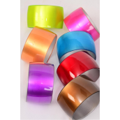 "Bangle Acrylic Wide Cat-eye Multi/DZ **Multi** Size-2.75""x 1.75"" Dia Wide,2 Red,2 Blue,2 Brown,2 Purple,2 Fuchsia,1 Orange,1 Lime,7 Color Asst,Hang Tag & OPP bag & UPC Code"