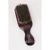 "Club Wood Brushes Soft Boar W Handle 6.5""x 2.5"" Wide/DZ **Soft* Size-6.5""x 2.5"" Wild,OPP Bag & UPC Code"