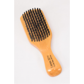 "Club Wood Brushes Hard Boar W Handle 6.5""x 2.5"" Wide/DZ **Hard** Size-6.5""x 2.5"" Wild,OPP Bag & UPC Code"