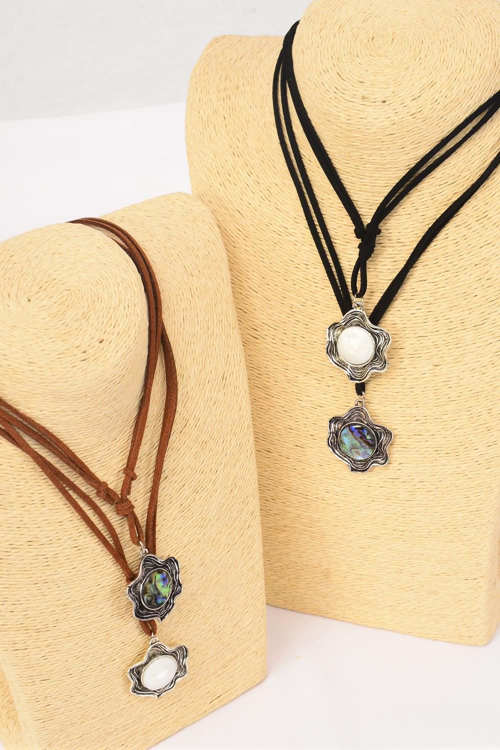 Necklace Leather Feel Pendant Shell Dz Necklace