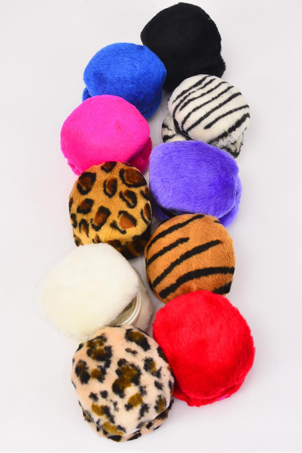 Ear Muff Asst Colors/DZ Choose Patterns,OPP Bag