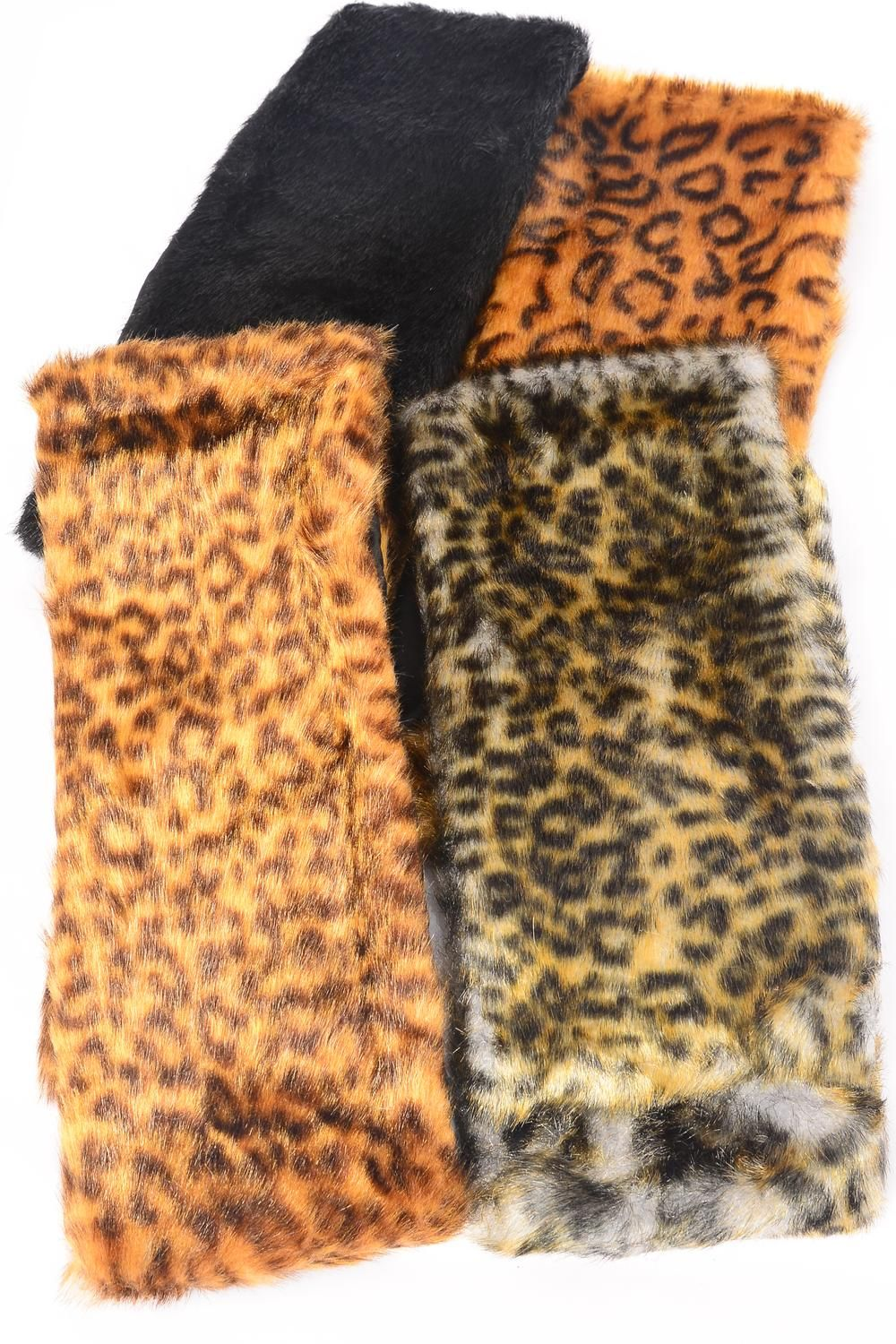 "Neck Scarf Faux fur Shine/PC match 99026 Size-36""x 5.5"" Wide,Choose Colors,OPP Bag & UPC Code"