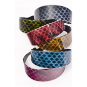 "Headband Acrylic Color Asst/DZ Size-1.75"" Wide,2 Black,2 Blue,2 Purple,2 Green,2 Burgundy,1 Brown,1 Orange,7 Color Asst,Hang tag & Individual Opp bag & UPC Code - 1"" Wide"