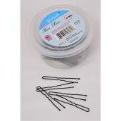 Hair Pins Black 1 3/4''' 100pcs Tub/DZ Size-1 3/4'', 100pcs Per Tub, UPC Code