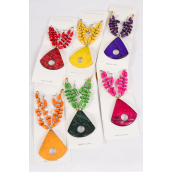 "Necklace Sets Wooden Beads Coconut Shell Pendant Multi/DZ Pendant Size-3""x 2.5"" Wide,20"" Long,2 of each Ciolor Asst,Display Card & OPP bag & UPC Code -"