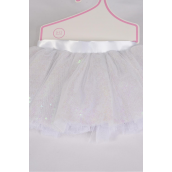 Tutu Dress Sequin AB White/PC **AB White** Size-0-12 month,Display Card & UPC Code