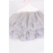 Tutu Dress Gray/PC **Gray** Size-0-12 month,Display Card & UPC Code