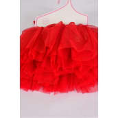 Tutu Dress Red/PC **Red** Size-0-12 month,Display Card & UPC Code