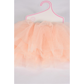 Tutu Dress Peach/PC **Peach** Size-0-12 month,Display Card & UPC Code