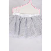 Tutu Dress Sequin Silver/PC **Silver** Size-0-12 month,Display Card & UPC Code